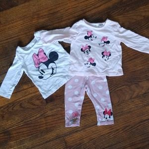 Mini Mouse legging and long sleeved tees